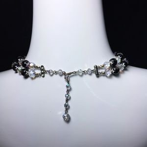 Swarovski Jewelry - Vintage Art Deco Venetian Bead Swarovski Necklace